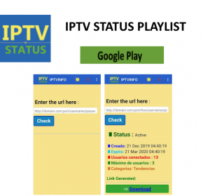 iptv android status playlist